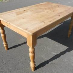 Pine Kitchen Table Cart With Drawers Sold Victorian Style Six Chairs